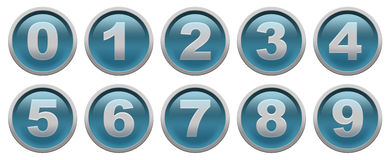 Digit buttons Stock Photos