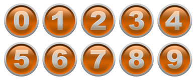 Digit buttons Royalty Free Stock Images