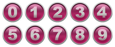 Digit buttons Royalty Free Stock Photography