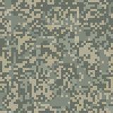 Digit camouflage seamless pattern for arid area. Camouflage seamless pattern for arid area in digit style Stock Photo