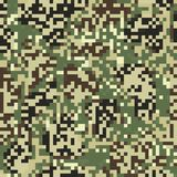 Digit camouflage seamless pattern Stock Photography