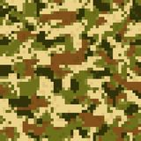 Digit camouflage seamless pattern Stock Image