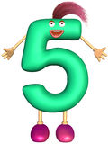 Digit character of five Stock Image
