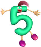 Digit character of five Stock Photo