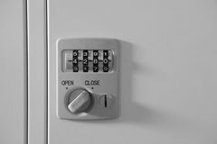 Digit dial locker Stock Image