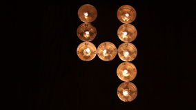 Digit four made of candles Royalty Free Stock Photos