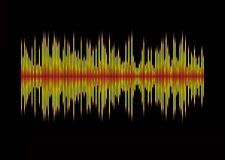 Digit music. Abstract musical background showing a graphic equalizer in black Stock Photo