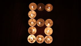 Digit six made of candles Royalty Free Stock Photography