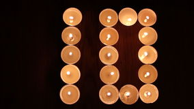 Digit ten made of candles Royalty Free Stock Image