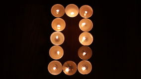 Digit zero made of candles Stock Photography