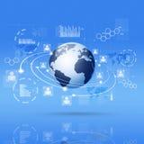 Digita Communicationl Interface Blue Background Royalty Free Stock Photo