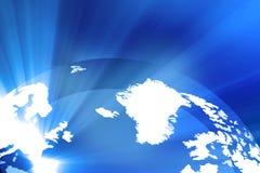 Digitaal Aardeconcept Stock Foto