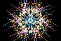 Digitaal abstract heilig geometrisch patroonontwerp vector illustratie
