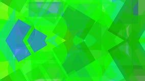 Digitaal abstract ontwerp van groene vormen royalty-vrije illustratie