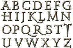 Digitaal Alfabet Kane Style Scrapbooking Element Royalty-vrije Stock Afbeelding