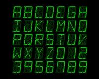 Digitaal alfabetontwerp - vectorillustratie Stock Foto's