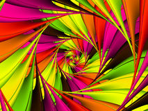 Digitaal Art Abstract Lime Green en Roze Spiraalvormige Achtergrond Royalty-vrije Stock Foto