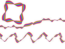 Digitaal Art Abstract Rainbow Flowing Ribbon Royalty-vrije Stock Foto