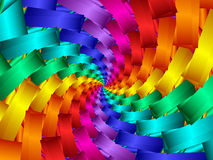 Digitaal Art Abstract Rainbow Spiral Background stock illustratie