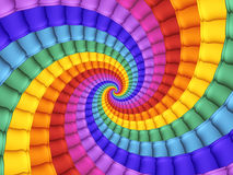 Digitaal Art Abstract Rainbow Spiral Background Royalty-vrije Stock Afbeeldingen