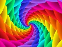 Digitaal Art Abstract Rainbow Spiral Background Stock Fotografie