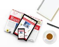 Digitaal bedrijfsnieuws Stock Foto