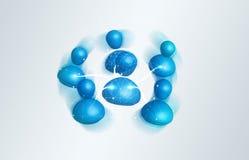 Digitaal blauw sociaal netwerk bij het 3D teruggeven Stock Afbeeldingen