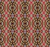 Digitaal die kunstontwerp, kleren in een bazaar door caleidoscoop wordt gezien Stock Afbeelding