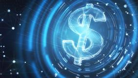 Digitaal dollarteken Stock Afbeelding