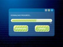 Digitaal downloadblauw Stock Afbeeldingen