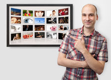 Digitaal fotoalbum royalty-vrije stock foto's