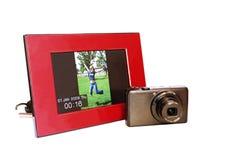 Digitaal fotoframe Royalty-vrije Stock Foto's