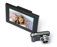 Digitaal frame met camera Royalty-vrije Stock Afbeeldingen