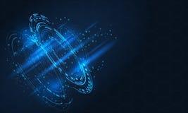 Digitaal futuristisch gebruikersinterface, HUD voor app en Web vector illustratie