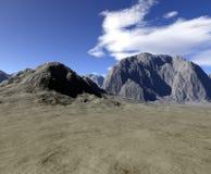 Digitaal geef van landschap terug Royalty-vrije Stock Afbeelding