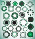 Digitaal geometrisch abstract vormkenteken Stock Afbeeldingen
