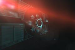 Digitaal geproduceerd beeld van 3d de interface van de volumeknop Royalty-vrije Stock Foto's