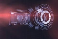Digitaal geproduceerd beeld van medische 3d apparateninterface Stock Afbeelding