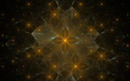 Digitaal geproduceerd die beeld van kleurrijke fractal wordt gemaakt Stock Afbeelding