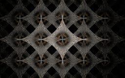 Digitaal geproduceerd die beeld van kleurrijke fractal wordt gemaakt Stock Afbeeldingen