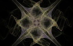 Digitaal geproduceerd die beeld van kleurrijke fractal wordt gemaakt Royalty-vrije Stock Foto