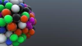 Digitaal geproduceerde cluster van kleurrijke bellen Royalty-vrije Stock Afbeeldingen