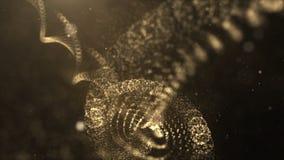 Digitaal Geproduceerde Virtuele DNA-bundel in de Abstracte Ruimte van Deeltjescyber Stock Foto