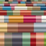 Digitaal geproduceerde weerspiegelende kleurrijke cilindrische gevormde, uitgedreven bars die tot horizontaal, modern patroon lei Royalty-vrije Stock Foto's