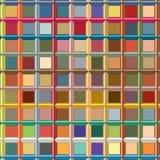 Digitaal geproduceerde weerspiegelende kleurrijke cilindrische gevormde, uitgedreven bars die tot net zoals modern patroon leiden Royalty-vrije Stock Foto's
