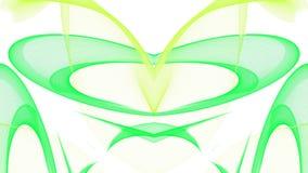 Digitaal kunst abstract groen ontwerp op witte achtergrond royalty-vrije illustratie