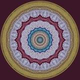 Digitaal kunstontwerp, kleurrijk mozaïekpatroon in lilac en gouden Stock Foto