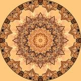 Digitaal kunstontwerp met oranje en beige filigraanster Stock Foto's