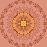 Digitaal kunstontwerp met oranje en beige filigraanster Stock Fotografie