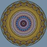 Digitaal kunstontwerp, mozaïekpatroon in glanzende gouden en grijs Royalty-vrije Stock Afbeelding